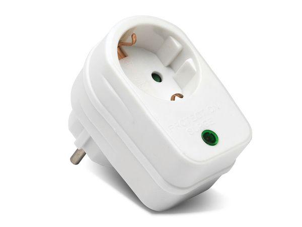 Überspannungsschutz-Gerätestecker, weiß, 3500 W