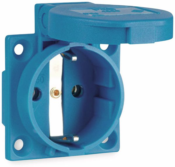 Schutzkontaktsteckdose PCE P-Nova Plus, blau, IP54