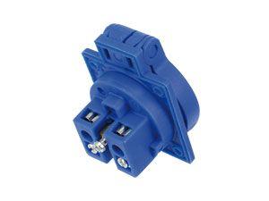 Schutzkontaktsteckdose PCE P-Nova Plus, blau, IP54 - Produktbild 2