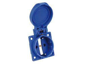Schutzkontaktsteckdose PCE P-Nova Plus, blau, IP54 - Produktbild 3