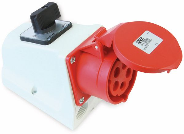 CEE-Anbaukupplung PCE, Schalter, 5-polig, 16 A, 400 V, IP44 - Produktbild 1