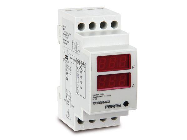 Digitales Volt-/Amperemeter für DIN-Schiene