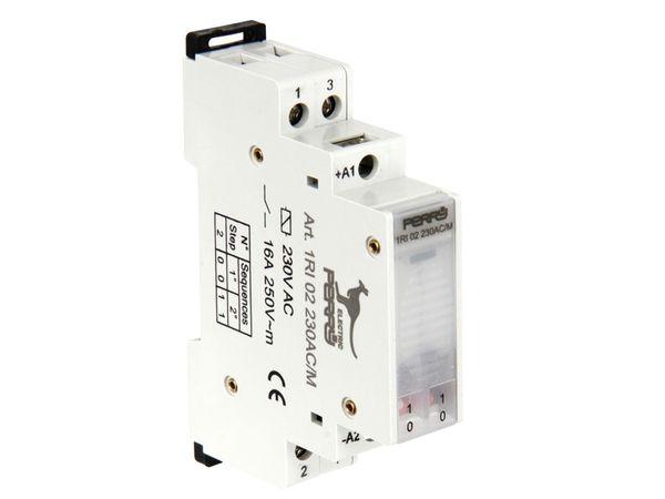 Stromstoss-Schalter PERRY 1RI02230AC/M, 230 V~, 2 Kontakte