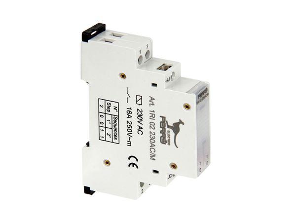 Stromstoss-Schalter PERRY 1RI02230AC/M, 230 V~, 2 Kontakte - Produktbild 2