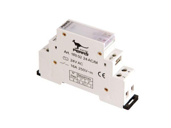 Stromstoss-Schalter, 24 V~, 2 Kontakte