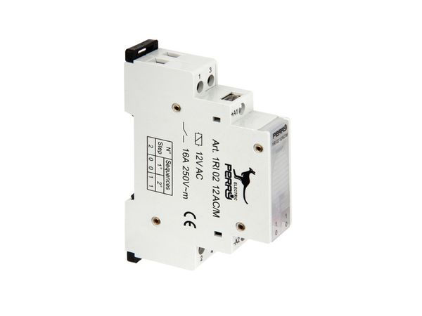 Stromstoss-Schalter, 12 V~, 2 Kontakte - Produktbild 2