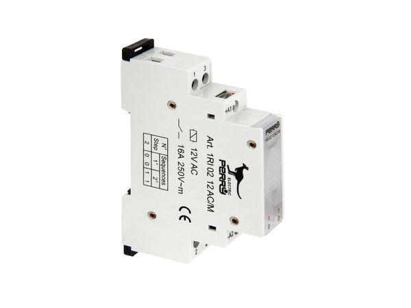 Stromstoss-Schalter PERRY 1RI0212AC/M, 12 V~, 2 Kontakte - Produktbild 2