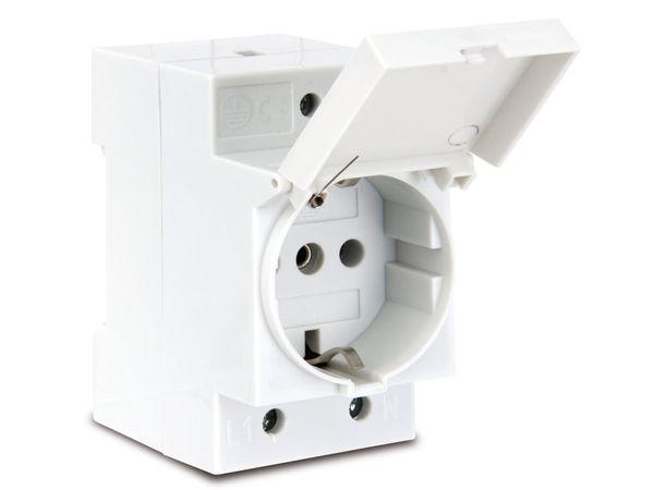 Schutzkontakt-DIN-Steckdose mit Klappdeckel - Produktbild 1