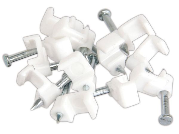 Nagelschellen für Flach- oder Lautsprecherkabel