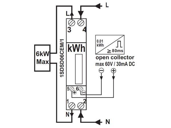 Wechselstromzähler PERRY 1SDSD06CEM/1 - Produktbild 3