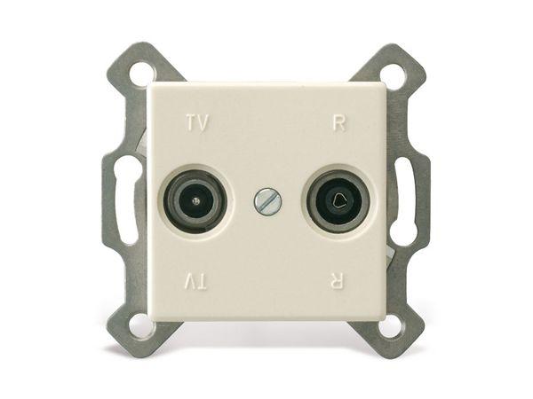 REV StandardQuadro, Antennendose, cremeweiß