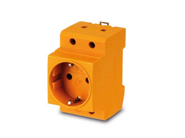 Schutzkontakt-DIN-Steckdose, gelb - Produktbild 1