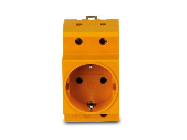 Schutzkontakt-DIN-Steckdose, gelb - Produktbild 2