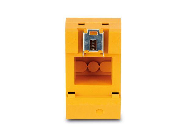 Schutzkontakt-DIN-Steckdose, gelb - Produktbild 3