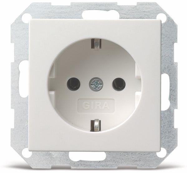 Steckdosen-Einsatz GIRA System 55, 018803, reinweiß, glänzend
