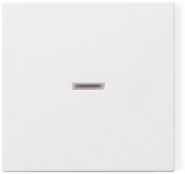 Wippe mit Kontrollfenster GIRA System 55, 029003, reinweiß, glänzend
