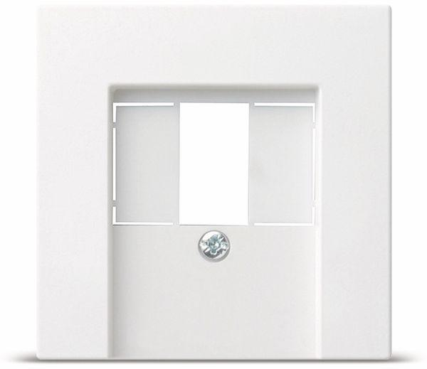 TAE+Stereo+USB Abdeckung GIRA System 55, 027603, reinweiß, glänzend