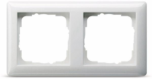 Abdeckrahmen 2-Fach GIRA Standard 55, 021203, reinweiß, glänzend