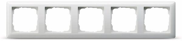 Abdeckrahmen 5-Fach GIRA Standard 55, 021503, reinweiß, glänzend