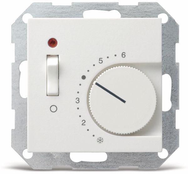 GIRA System 55, Raumtemperaturregler 039203, reinweiß, glänzend