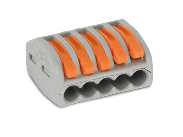 Verbindungsklemme WAGO 222-415, 5-polig, 40 Stück