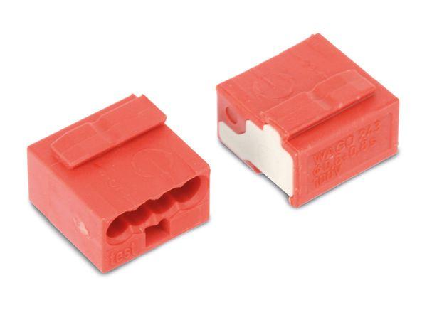 Micro-Steckklemmen WAGO 243-804, 4-polig, rot, 100 Stück