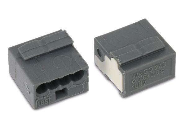 Micro-Steckklemmen WAGO 243-204, 4-polig, dunkelgrau, 100 Stück