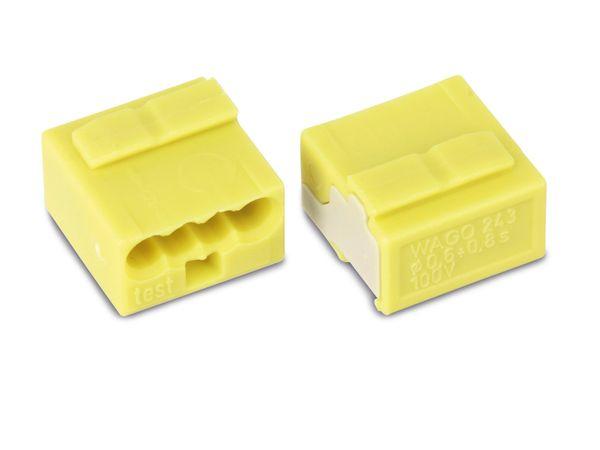 Micro-Steckklemmen WAGO 243-504, 4-polig, gelb, 100 Stück