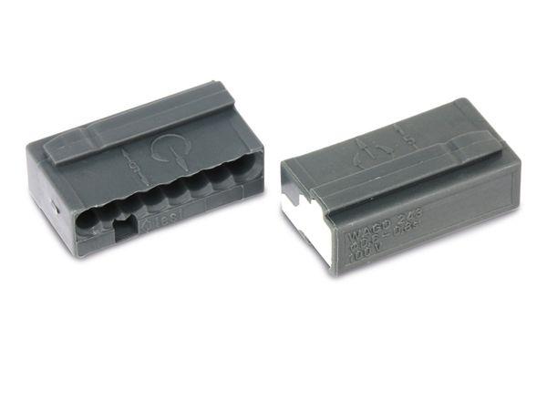 Micro-Steckklemmen WAGO 243-208, 8-polig, dunkelgrau, 50 Stück