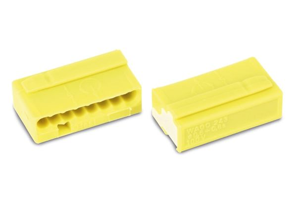 Micro-Steckklemmen WAGO 243-508, 8-polig, gelb, 50 Stück