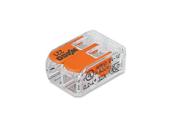 Steckklemmen WAGO 221-412, 2-polig, 0,2...4 mm², 100 Stück - Produktbild 2