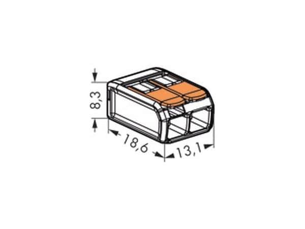 Steckklemmen WAGO 221-412, 2-polig, 0,2...4 mm², 100 Stück - Produktbild 3