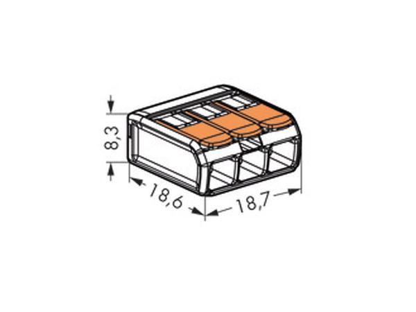 Steckklemmen WAGO 221-413, 3-polig, 0,2...4 mm², 100 Stück - Produktbild 3