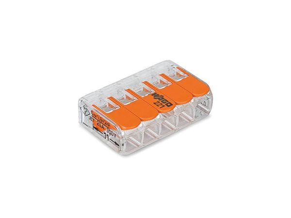 Steckklemmen WAGO 221-415, 5-polig, 0,2...4 mm², 25 Stück