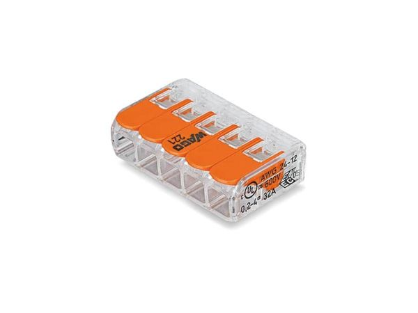 Steckklemmen WAGO 221-415, 5-polig, 0,2...4 mm², 25 Stück - Produktbild 2