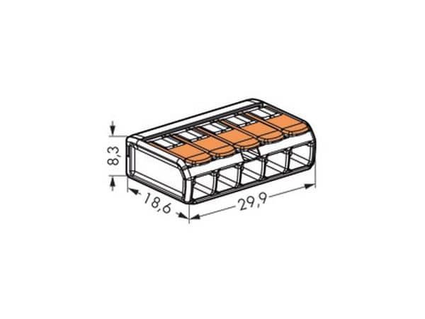 Steckklemmen WAGO 221-415, 5-polig, 0,14...4 mm², 25 Stück - Produktbild 3