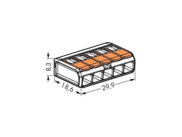 Steckklemmen WAGO 221-415, 5-polig, 0,2...4 mm², 25 Stück - Produktbild 3