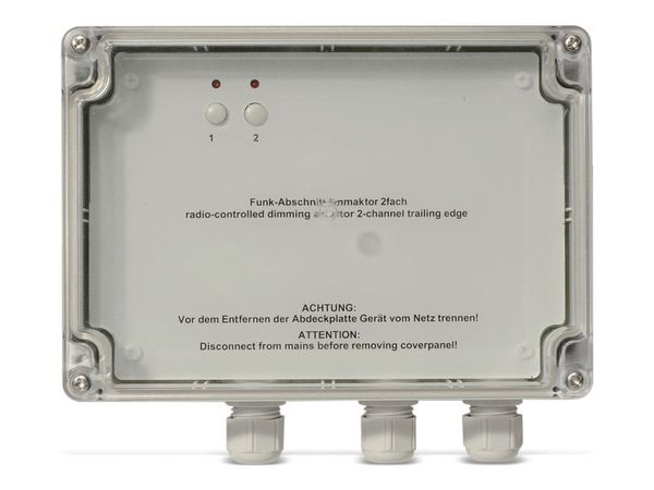HOMEMATIC 85972 Funk-Dimmaktor, 2-Kanal, Phasenabschnitt, AP