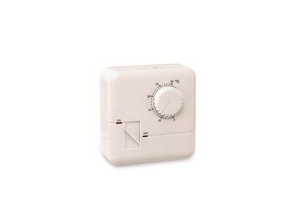 Elektronischer Raumtemperaturregler m. Schalter DAYHOME RTE-75AS, 5...30 °C