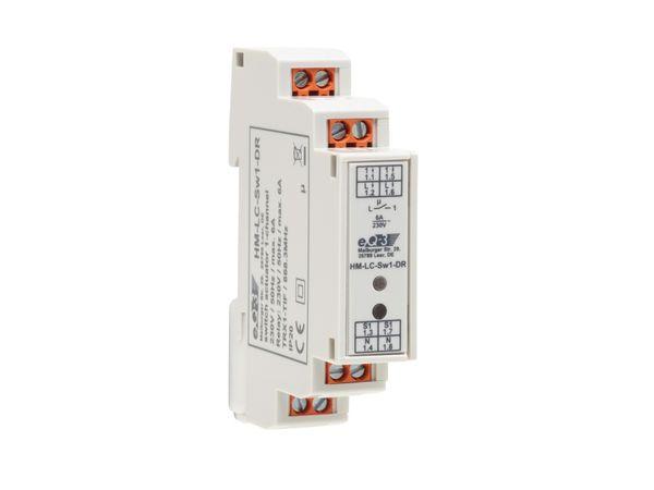 HOMEMATIC 1141378 Funk-Schaltaktor 1-fach, Hutschienenmontage - Produktbild 1