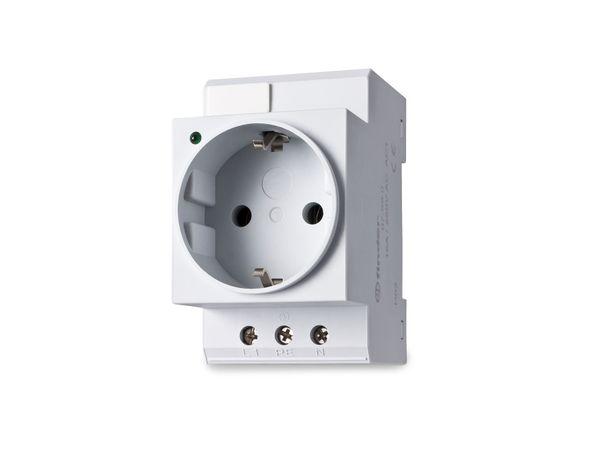 Schutzkontakt-Steckdose für DIN-Schiene FINDER 07.99.00, grau