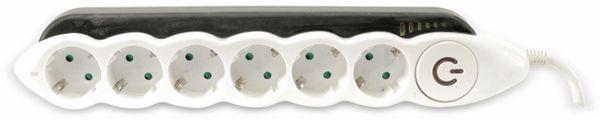 Steckdosenleiste REV mit Energieanzeige, 6-fach, schwarz/weiß - Produktbild 2