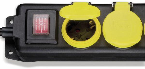Steckdosenleiste 3-fach; spritzwassergeschützt, IP 44, 3m Kabel, schwarz - Produktbild 2