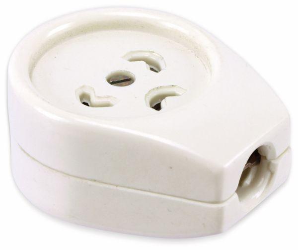 TERKO-Dreistift-Kupplung, weiß - Produktbild 1