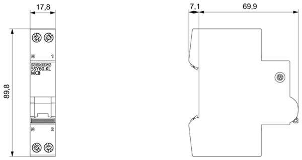 Leitungsschutzschalter SIEMENS 5SY6016-6 - Produktbild 2