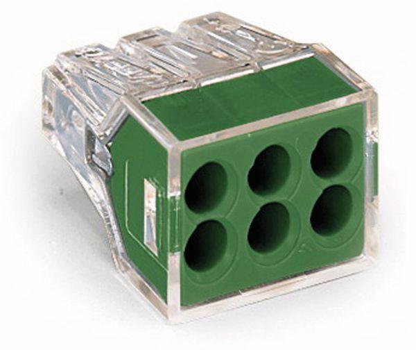 Verbindungsdosenklemme WAGO 773-116, 6 Leiter, transparent, 50 Stück