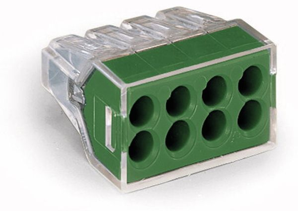 Verbindungsdosenklemme WAGO 773-118, 8 Leiter, transparent, 50 Stück