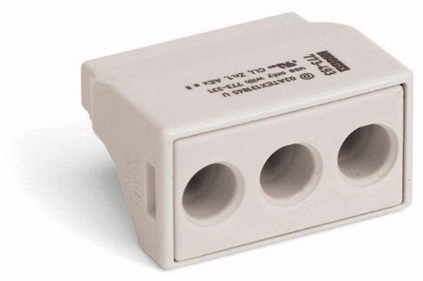 Verbindungsdosenklemme WAGO 773-493, 3 Leiter, lichtgrau, 50 Stück