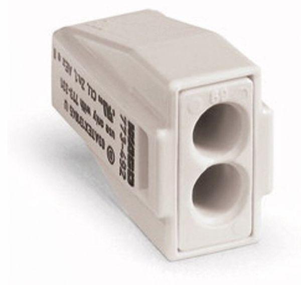 Verbindungsdosenklemme WAGO 773-492, 2 Leiter, lichtgrau, 100 Stück