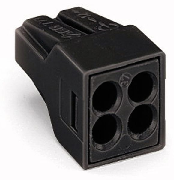 Verbindungsdosenklemme WAGO 773-514, 4 Leiter, 150 °C, schwarz, 100 Stück